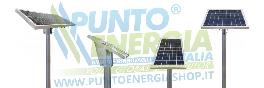 Regolatore Del Pannello Solare : Kit solare plus w pannello regolatore a supporto testapalo
