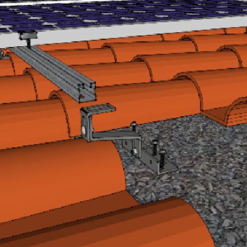 Sistemi di fissaggio pannelli fotovoltaici su tegole